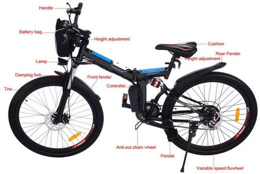 Montaña-Eléctrica-Bici-Plegable