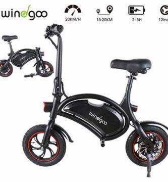 Windgoo bicicleta eléctrica plegable sin pedales