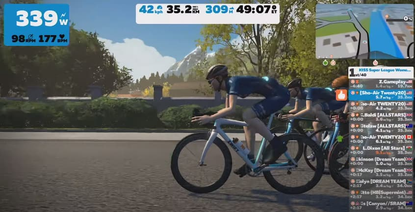 Zwift lanza la serie Pro Triathlete Race