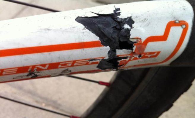 reparación bici carbono