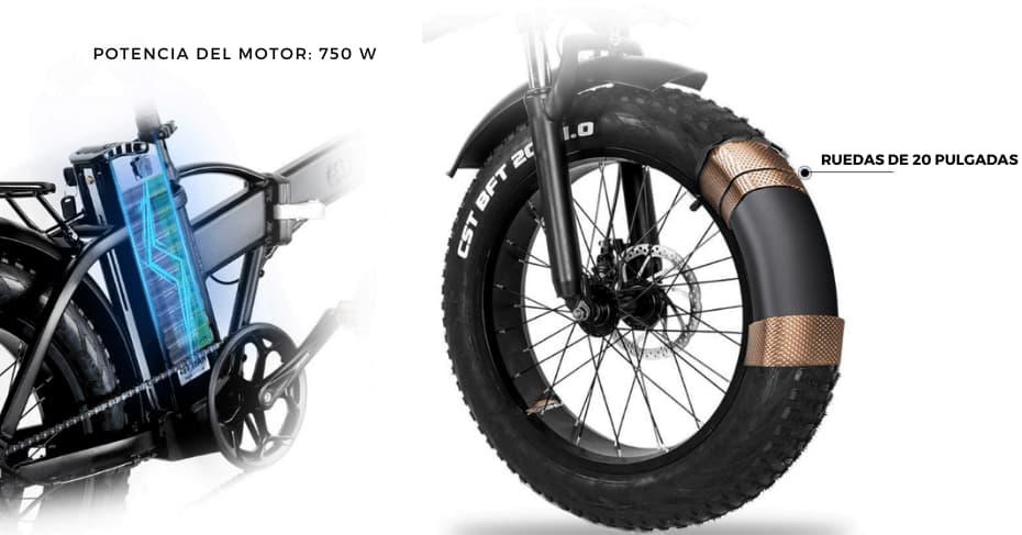 bicicleta electrica mcacewheel gw20